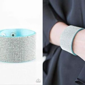 Blinged-out Suede Bracelet - Fashion Accessories